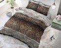 Sleeptime Panther Style – Dekbedovertrekset – Tweepersoons – 200×200/220 + 2 kussenslopen 60×70 – Taupe